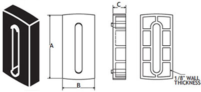 Spacer for GRBPlastic1