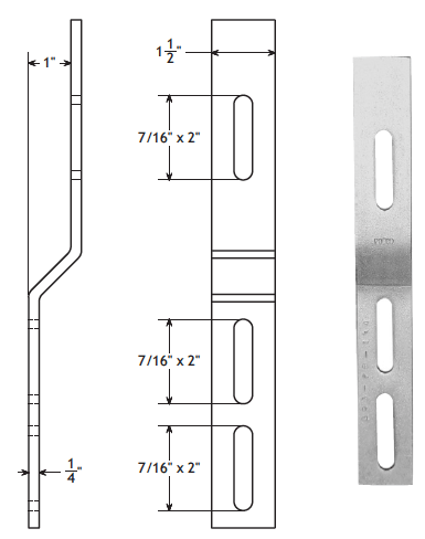 Heavy Duty Fixed Guide Rail Bracket