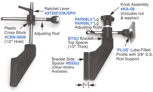 POBCO Bracket and Guide Rail Combo Examples
