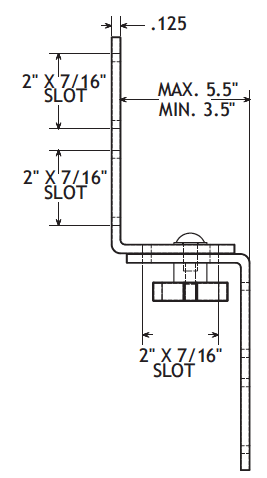 Stainless Steel 1/8' Thick Guide Rail Bracket